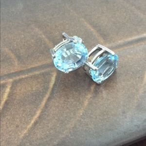 Topaz Sterling Silver Earrings